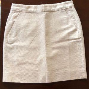 Champagne J. Crew Mini Skirt, Size 0
